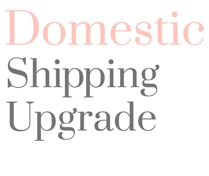 Domestic Shipping Upgrade