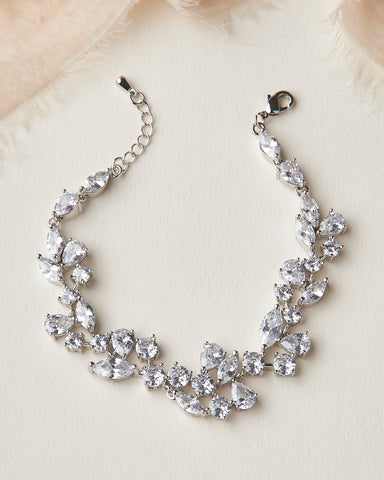 Sydney CZ Earrings & Bracelet Set