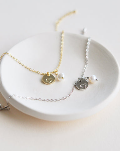 Simple Pearl Drop Bridesmaid Jewelry Set