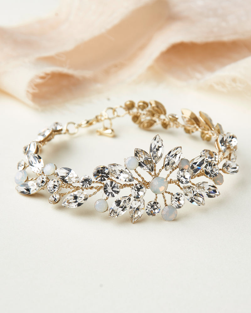 Crystal Wedding Bracelet Gold