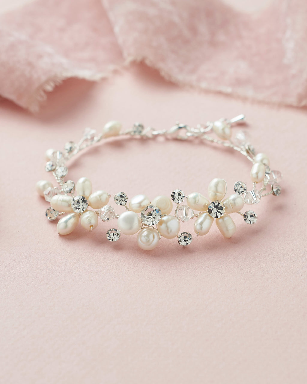 Pearl Bridal Bracelet with Pearls