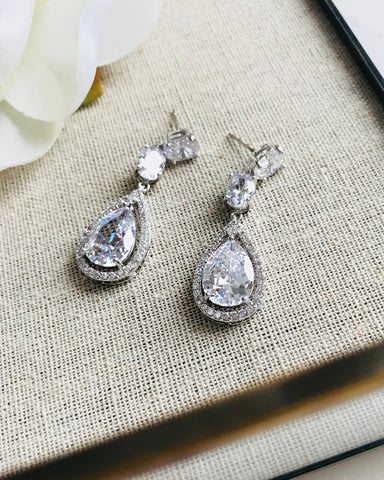 Madison CZ Dangle Earrings