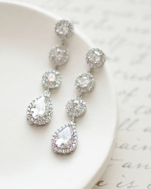 Adalia CZ Drop Earrings