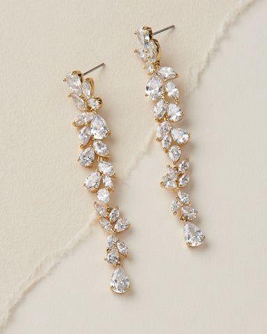 Olivia Freshwater Pearl & CZ Earrings