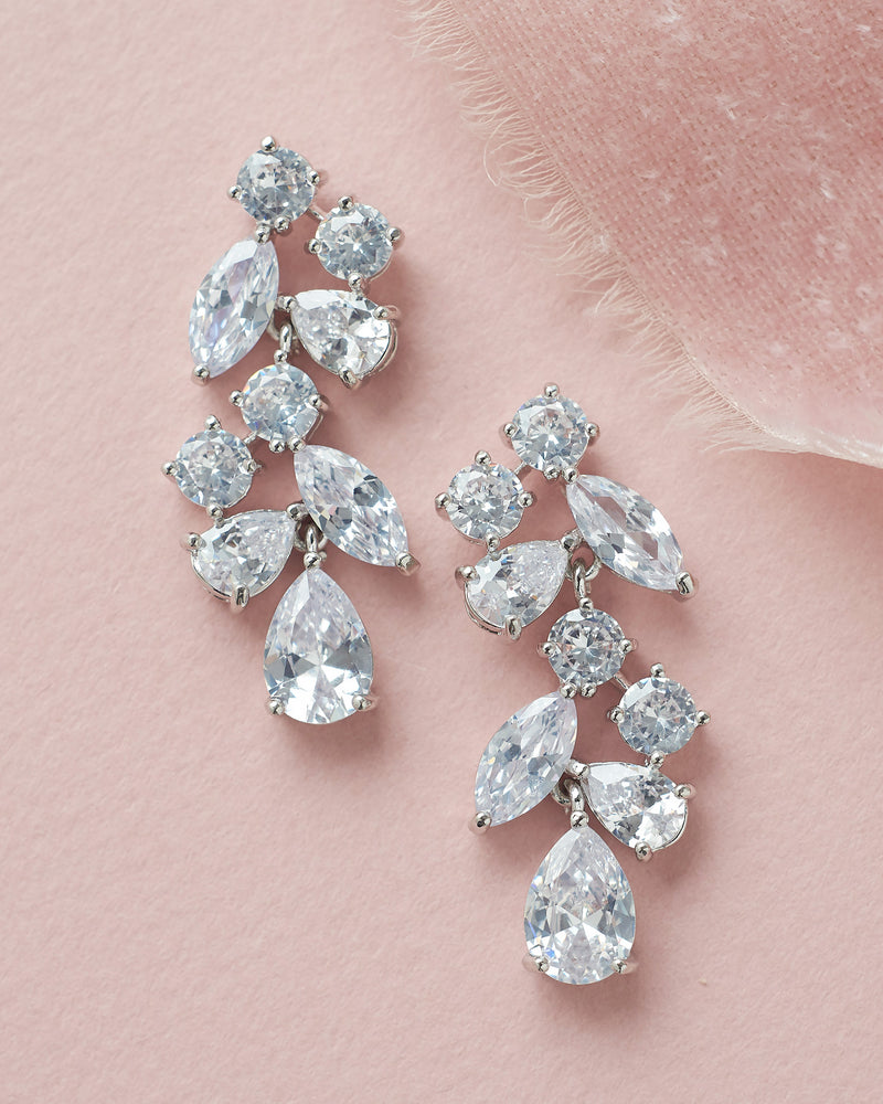 CZ Dangle Bride Earrings