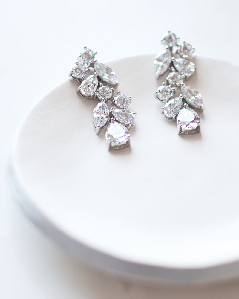 Scattered Vine CZ Earrings