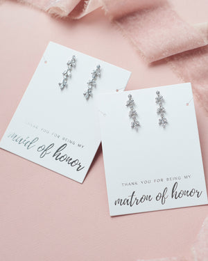 Bridal Party Jewelry Earrings