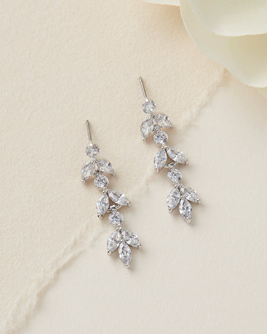 Stephanie CZ Wedding Earrings