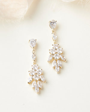Gold Wedding Earrings