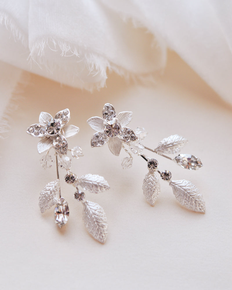 Floral Bridal Earrings