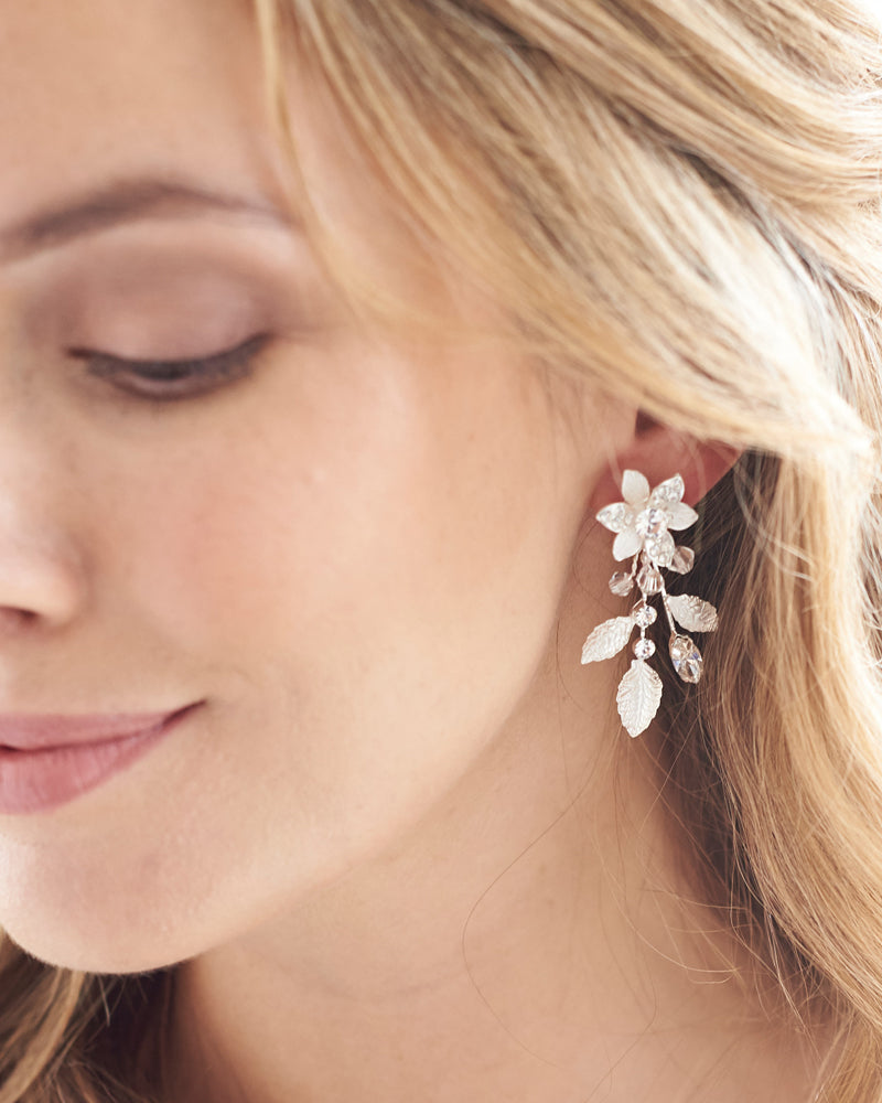 Bridal Floral Earrings