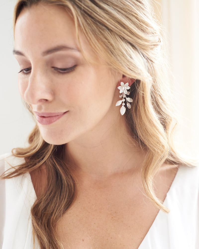 Bride Floral Earrings