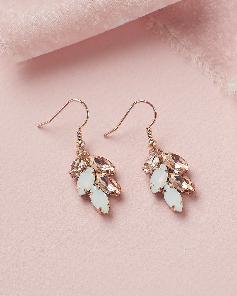 Rose Gold and Opal Earrings