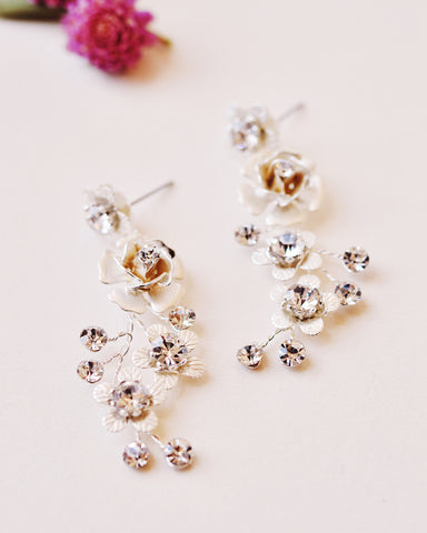 Anna Floral CZ Earrings