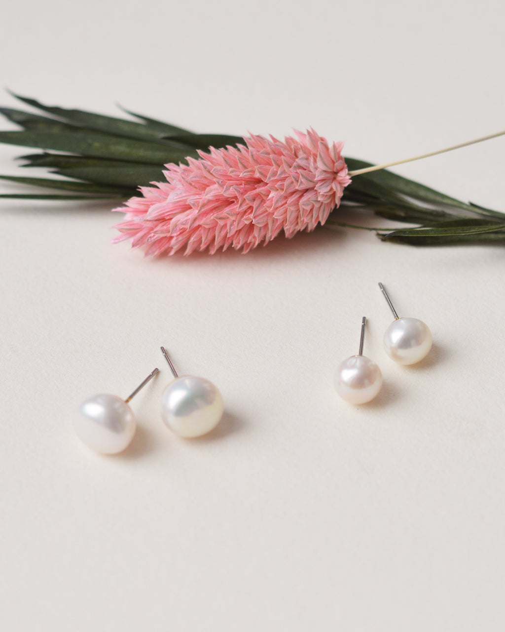 Simple Freshwater Pearl Stud Bridal Earrings