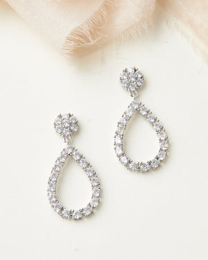 CZ Hoop Earrings Bridesmaid