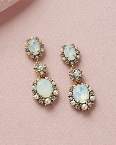 Francesca Floral Drop Earrings