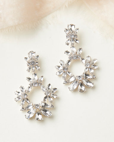 Alicia Crystal & Pearl Earrings