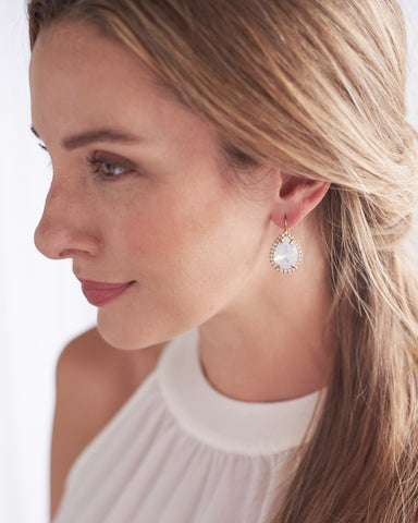 Elise Floral Drop Earrings