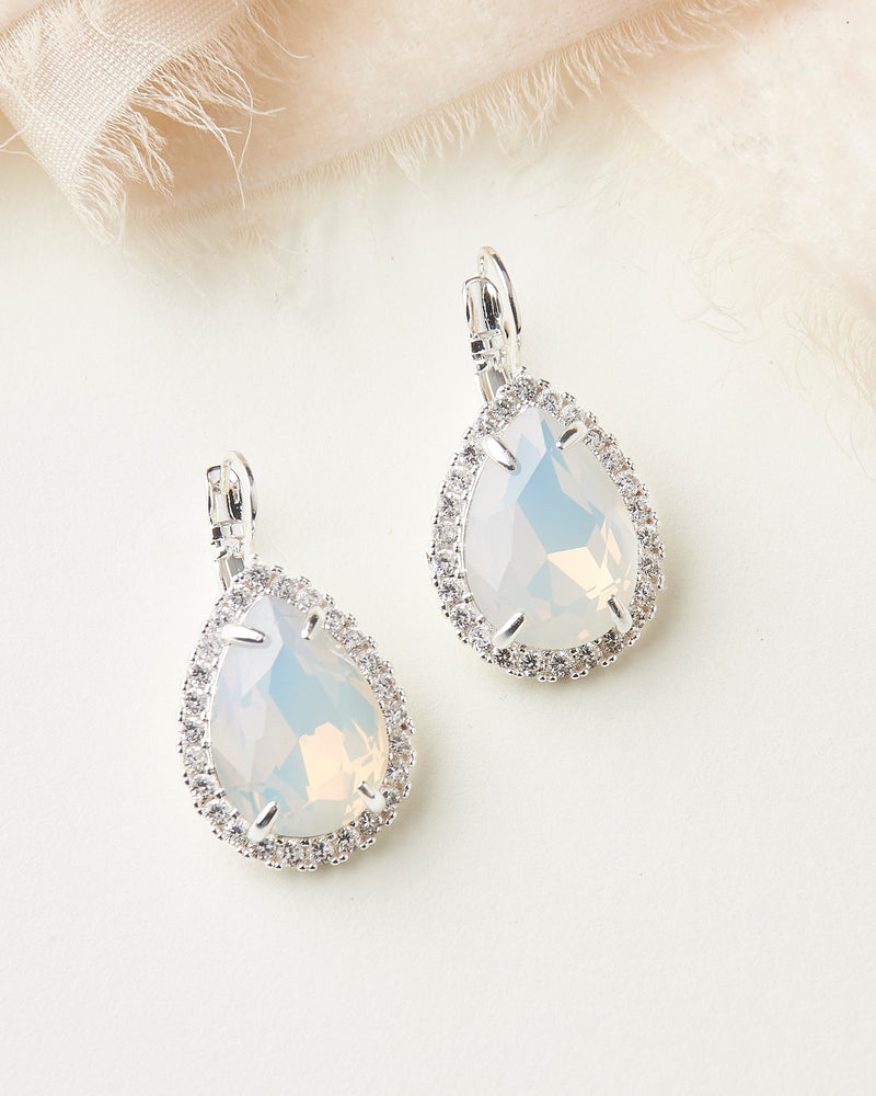 Opal Wedding Earrings