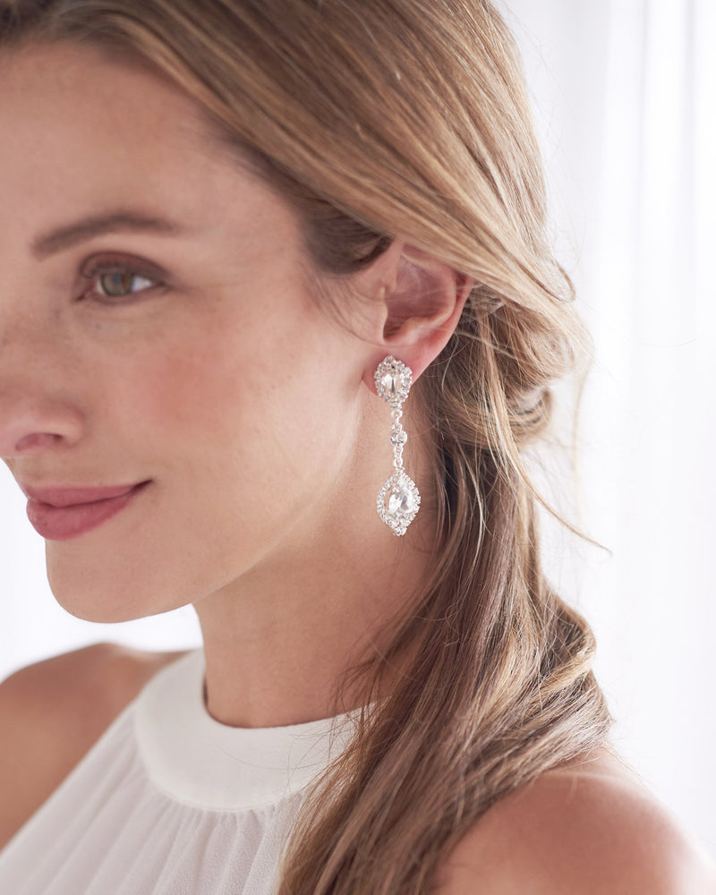 Silver Statement Earrings for Wedding