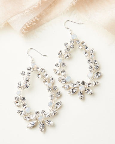 Leia Crystal Drop Earrings