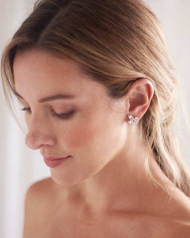 Sydney Floral CZ Earrings