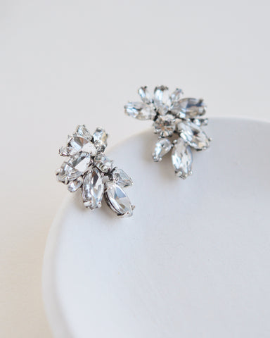 Elora Floral CZ Dangle Earrings