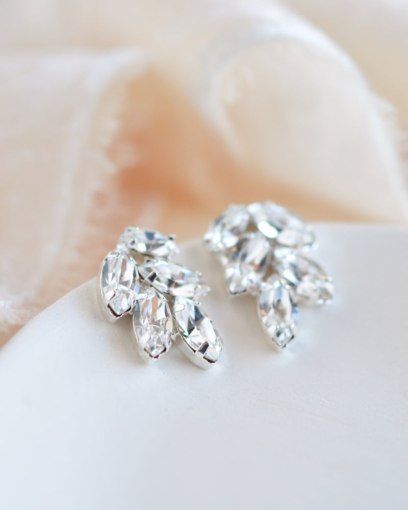 Crystal Bridal Stud Earrings