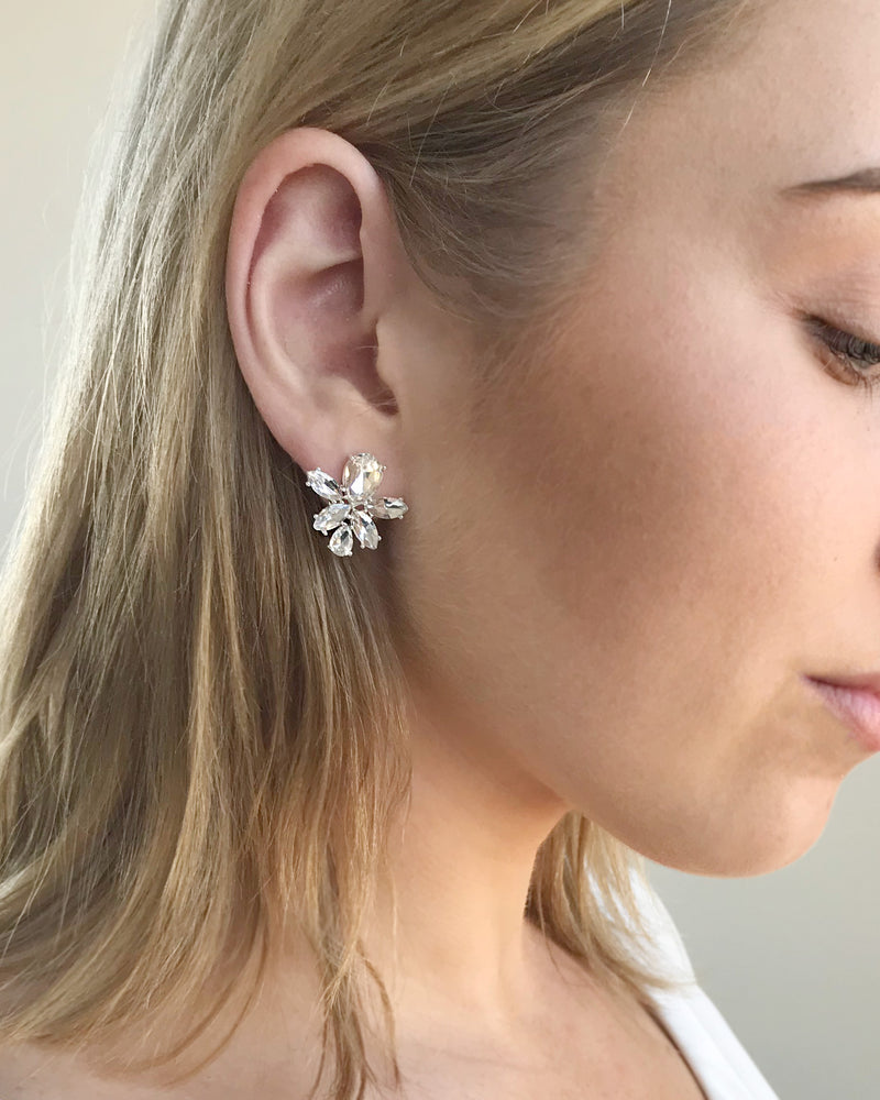 Crystal Stud Wedding Earrings