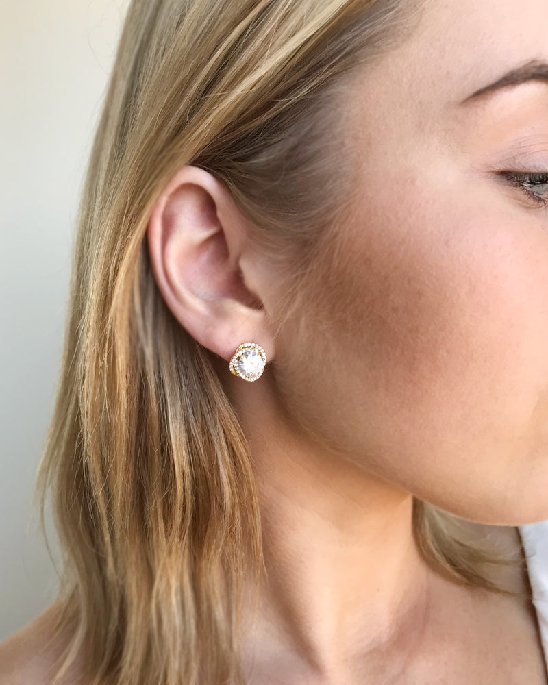 Cubic Zirconia Wedding Stud Earrings