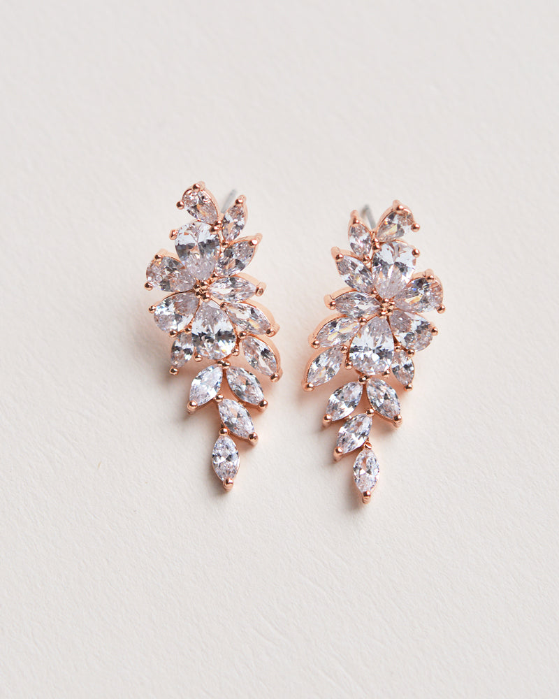 Rose Gold CZ Earrings
