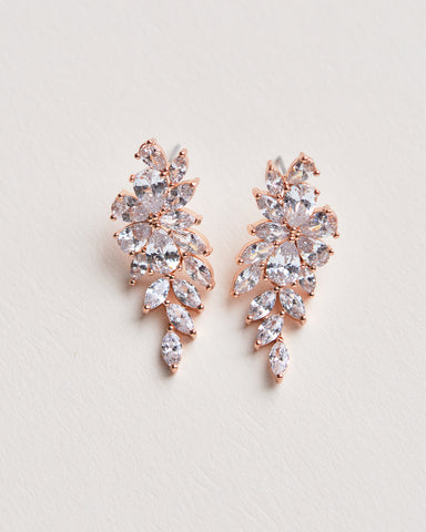 Linnea CZ Floral Earrings