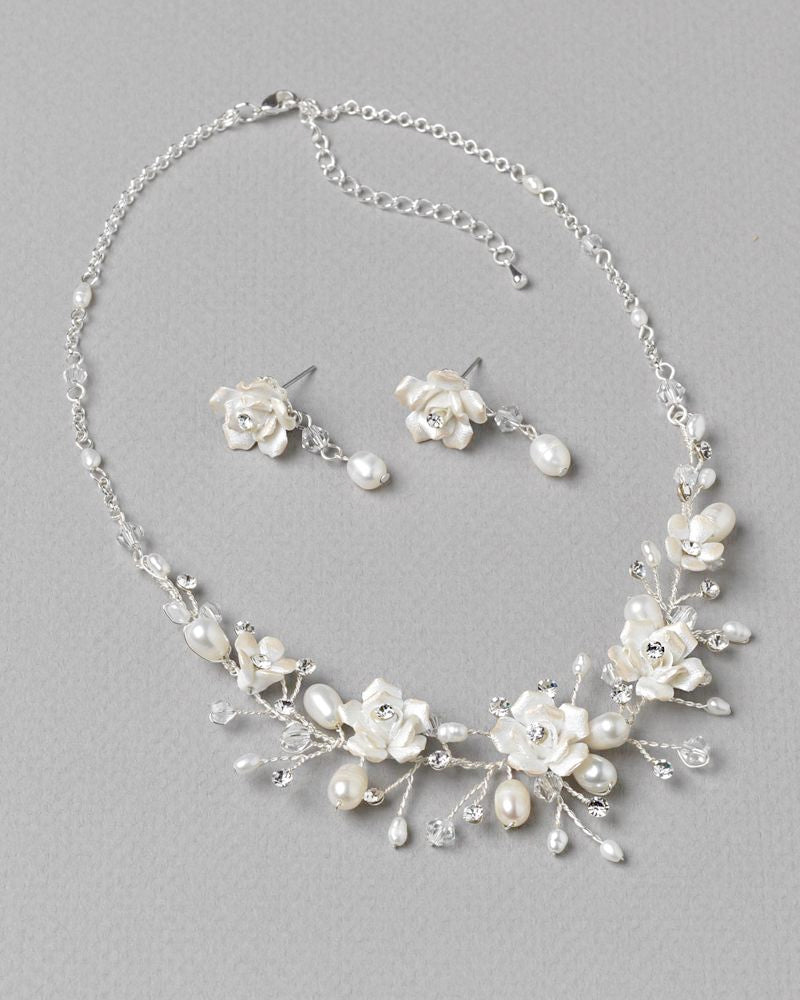 Floral Wedding Jewelry Set