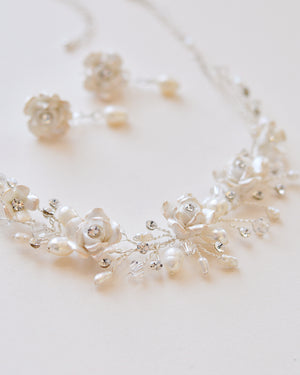 Rose Flower Jewelry Set for Bride