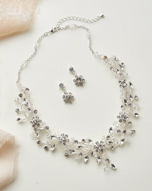 Wedding Jewelry Set with Crystals