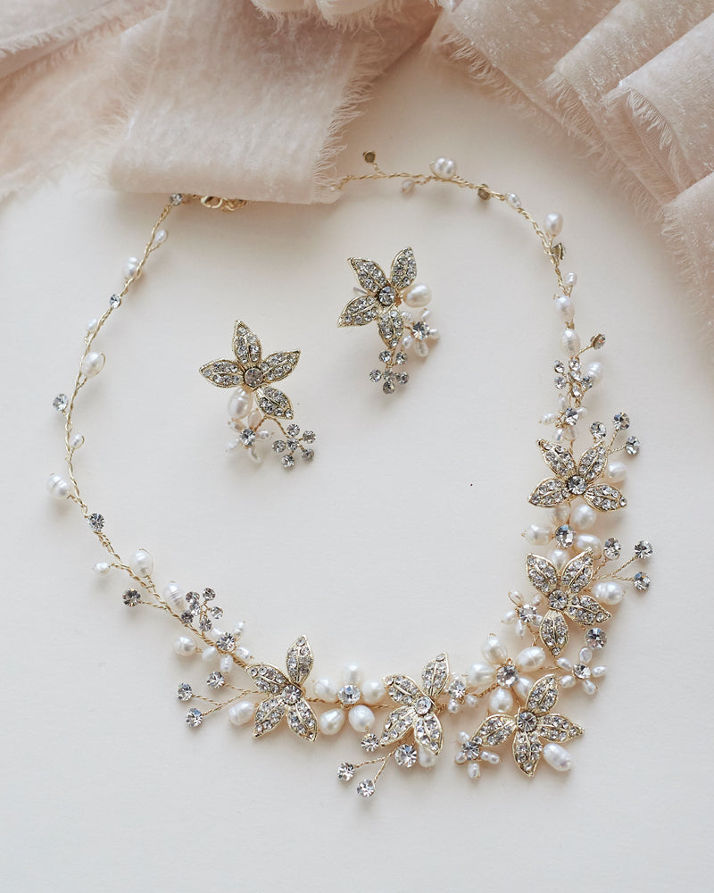 Floral Bridal Necklace