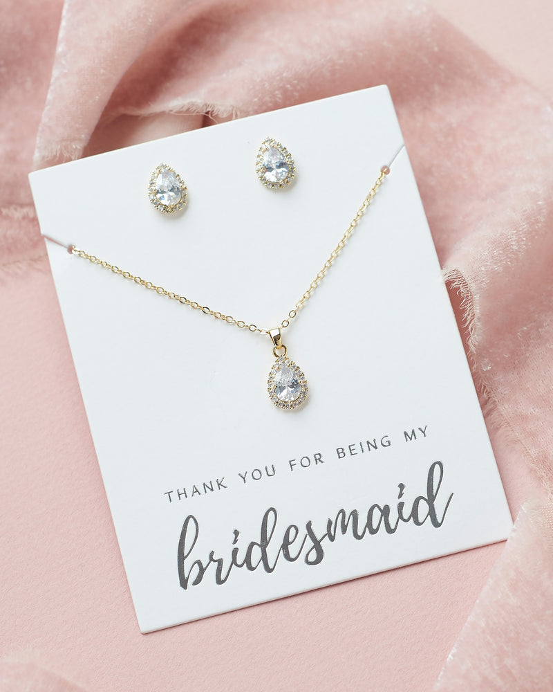 Gold Bridesmaid Jewelry