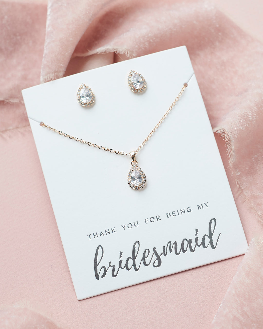Bridesmaid Jewelry Gift Rose Gold