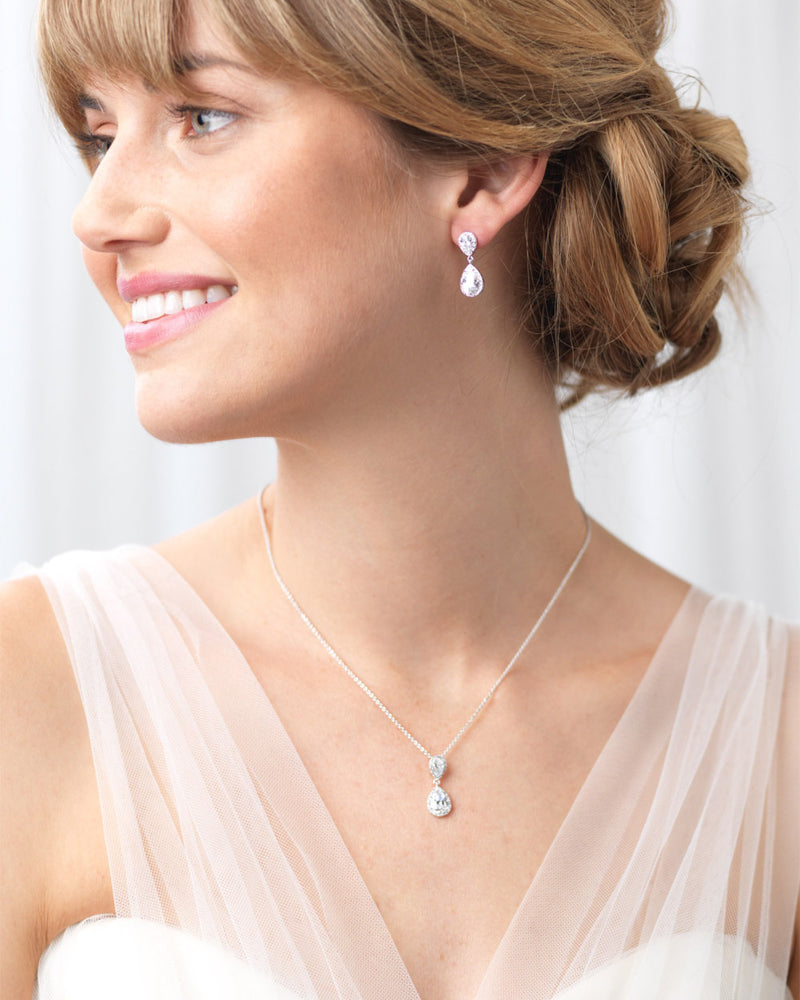 Georgia CZ Bridesmaid Jewelry Set