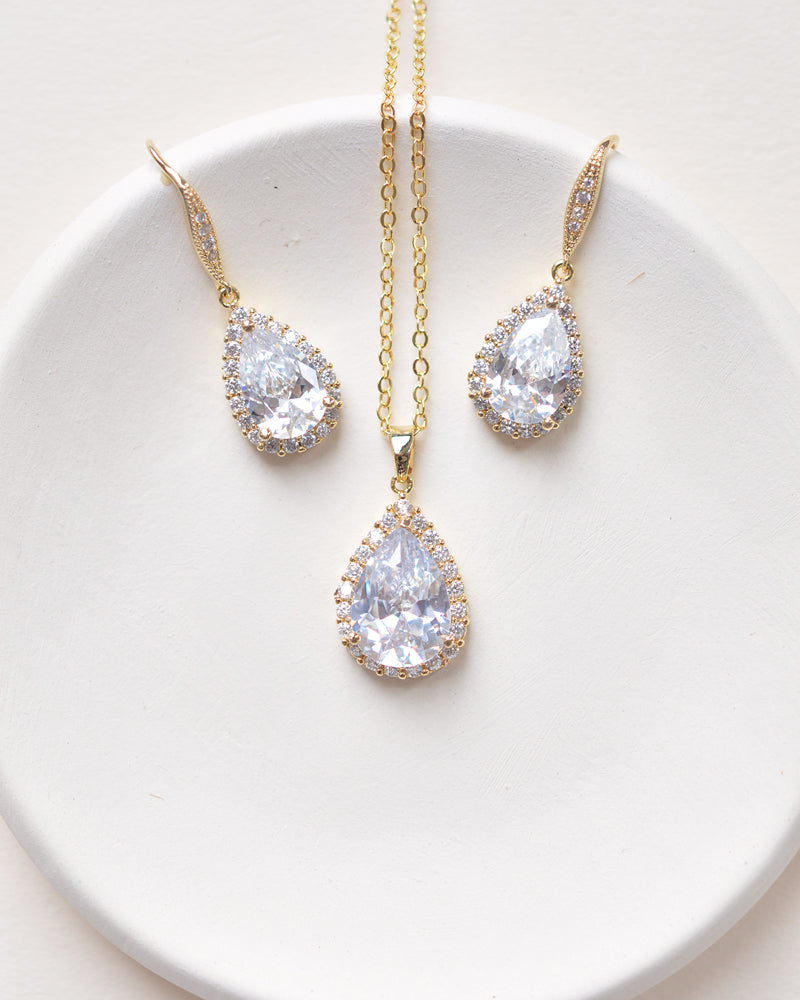 Gold Bridesmaid Jewelry Set
