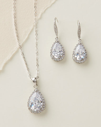 Ella Rhinestone & Crystal Drop Jewelry Set