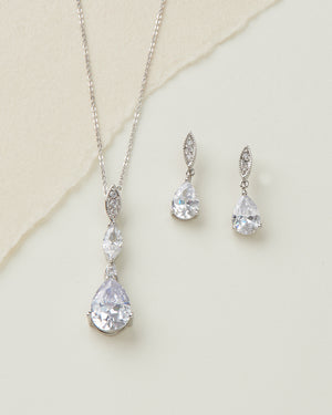 CZ Bridal Jewelry Set