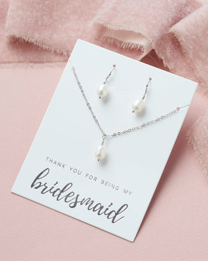 Pearl Bridesmaid Jewelry Set