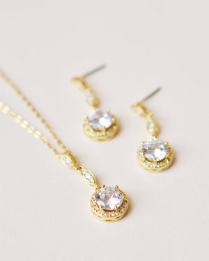 Gold Cubic Zirconia Jewelry