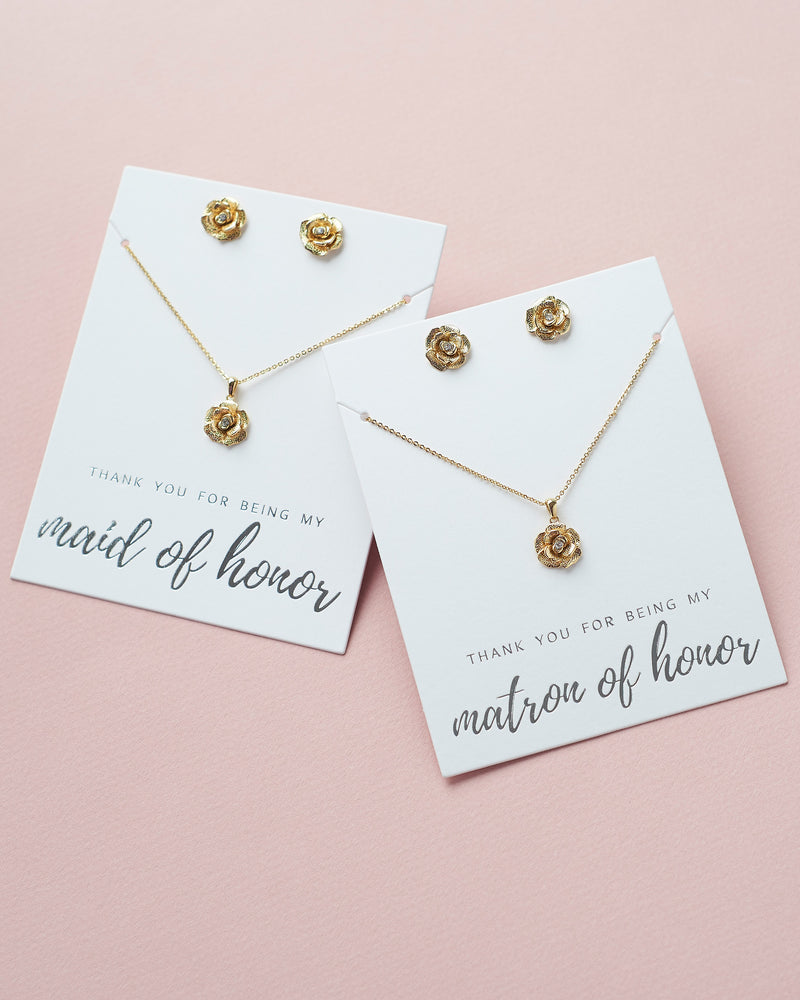 Gold Maid of Honor Jewelry sale