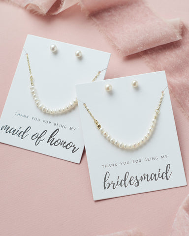 Rosalie Floral Bridesmaid Pendant Set