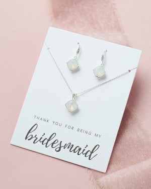 Opal Jewelry Set Bridesmaid