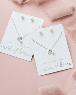 Maid of Honor Jewelry Personalized