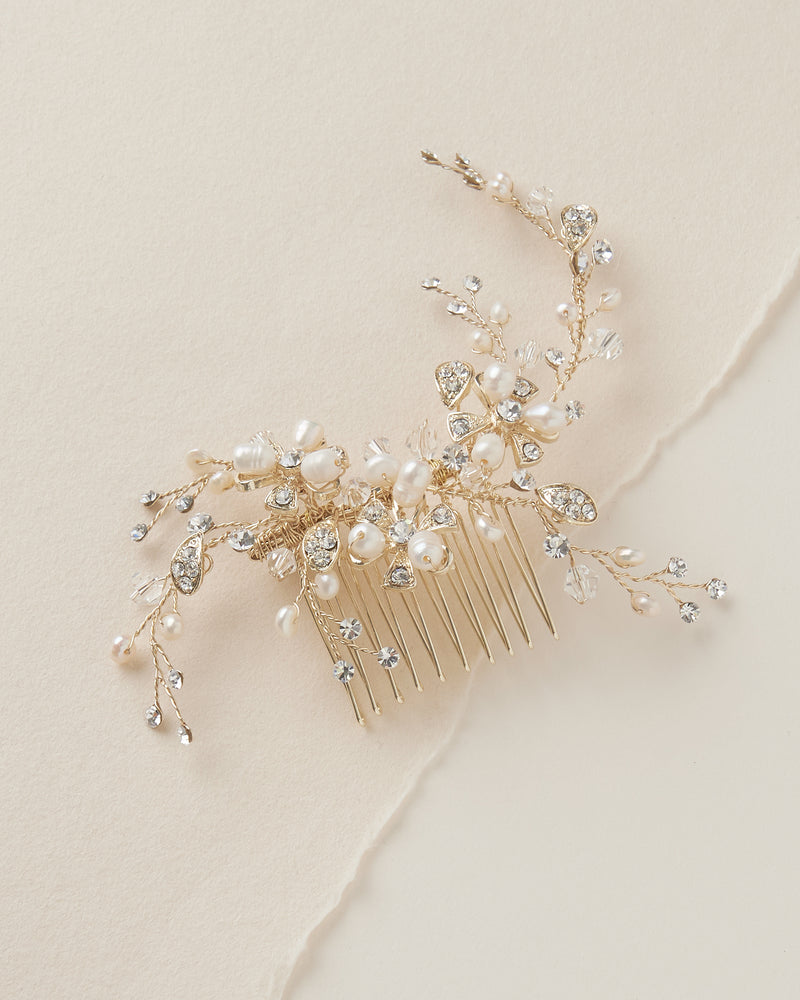 Gold Wedding Comb